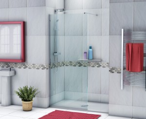 3D rendered shower enclosure