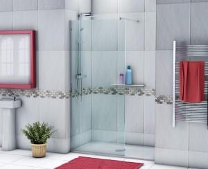 3D rendered shower enclosure